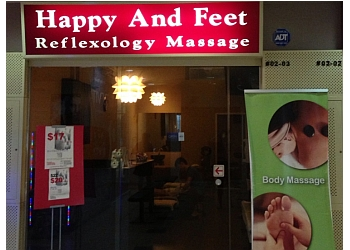 Happy and Feet Reflexology Massage